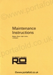 Maintenance Instructions